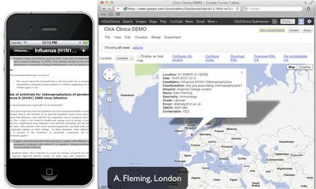 Salgın Hastalıkların Haritasını Çıkaran Bir Aplikasyon: ClickClinica