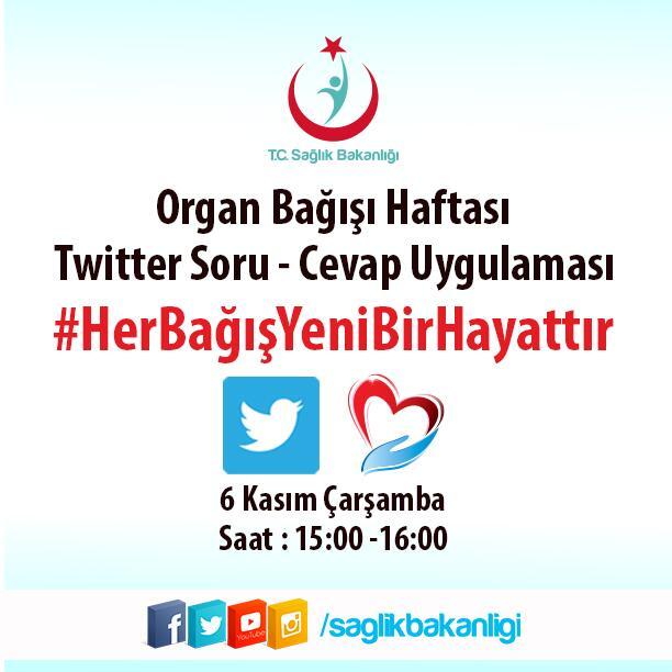 Sağlık Bakanlığı, Organ Bağışı İçin Twitter Kampanyası Düzenledi