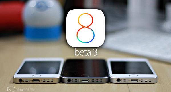 Apple iOS 8 Beta 3, Apple Developer Hesapları Olanlar İçin İndirilmeye Hazır