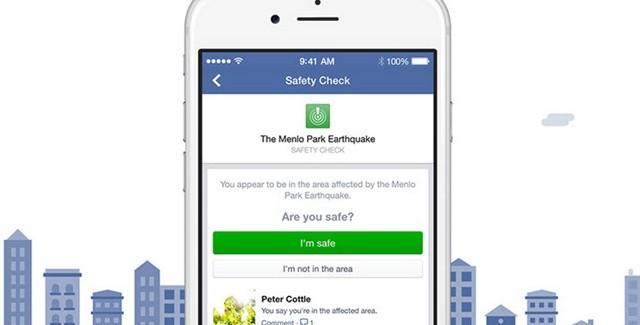 """Facebook'un Doğal Afet Anları için """"Güvenlik Kontrolü"""" Özelliği"""